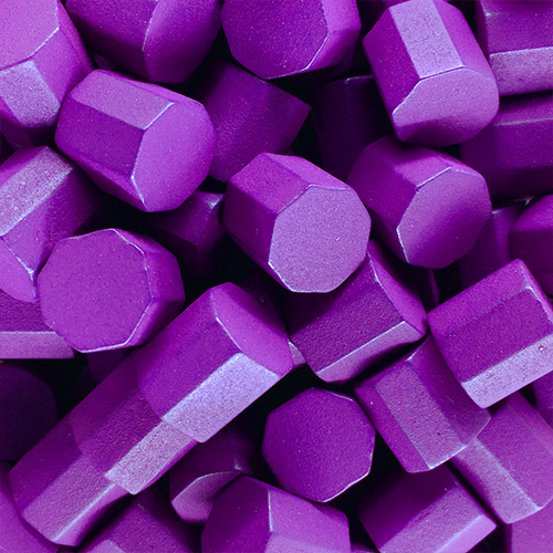Purple Wooden Octagons (10x10x10mm)