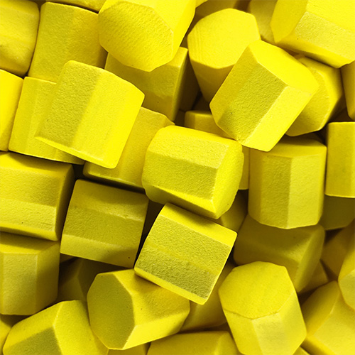 Yellow Wooden Octagons (10x10x10mm)