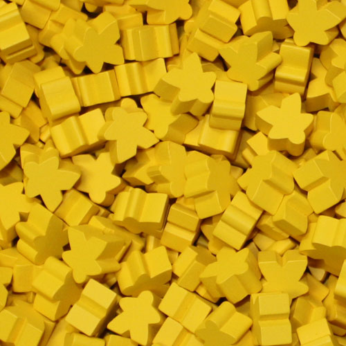 Yellow Meeples (16mm)