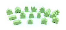 19-Piece Set of Lime Green Meeples (Compatible with Carcassonne & Expansions)