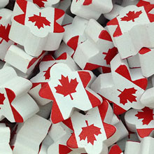 Canadian Flag - Character Meeple