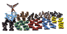 81-piece set of Deluxe North American Wingspan Birds (8 of each of the 10 types, plus 1 large first player bird token)