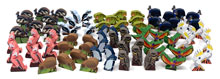 80-piece set of Deluxe Oceania Wingspan Birds (8 of each of the 10 types)