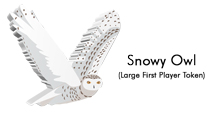 Large Snowy Owl First Player Token for Wingspan: European Expansion