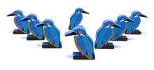 Common Kingfisher Meeples (8-pc set)